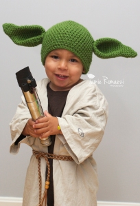 Homemade Toddler Yoda Halloween Costume